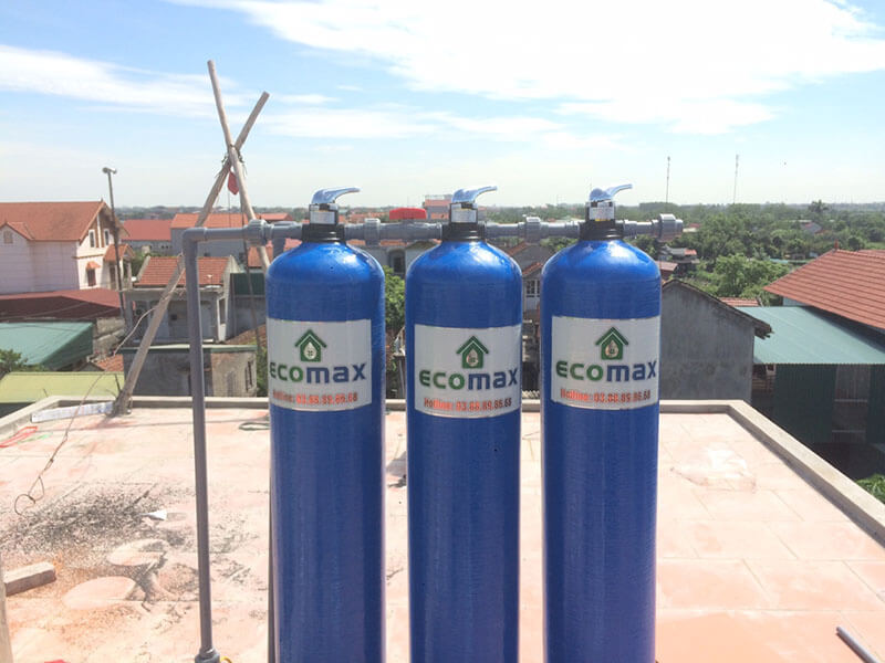 thiết bị lọc nước giếng khoan nhiễm phèn sắt