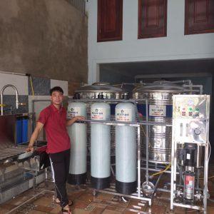 dây chuyền lọc nước 500 lít quảng bình