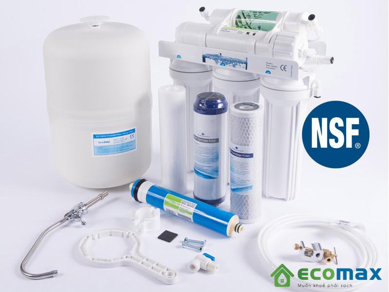 Sản phẩm lọc nước đạt tiêu chuẩn NSF