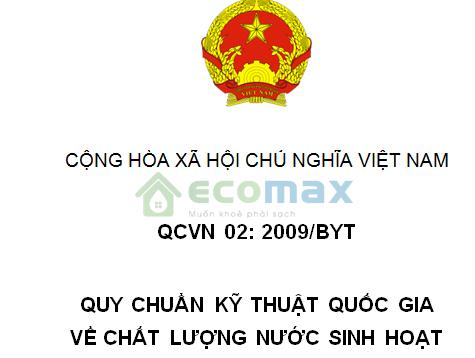 tieu-chuan-nuoc-sinh-hoat-qcvn02-2009-byt