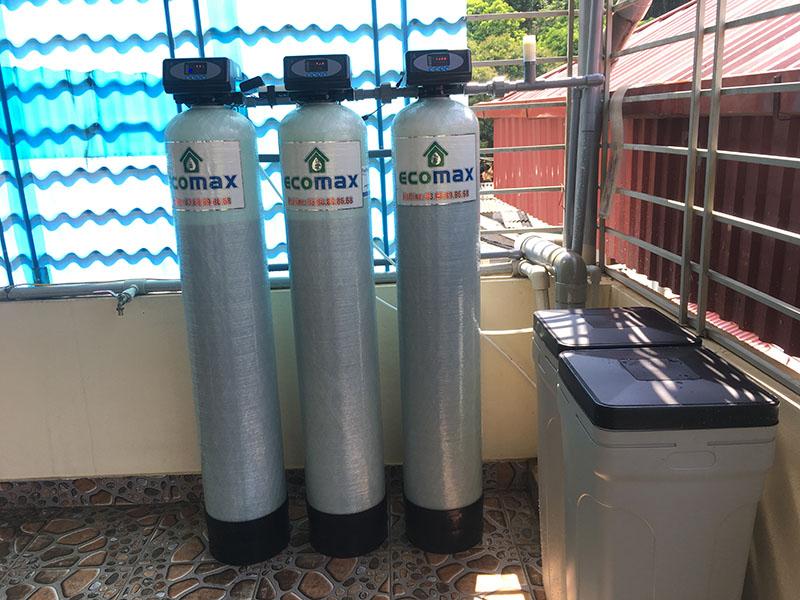Bộ lọc nước máy nhiễm đá vôi nặng tại thành phố Sơn La