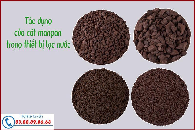 Tác dụng của cát mangan trong xử lý nước sinh hoạt