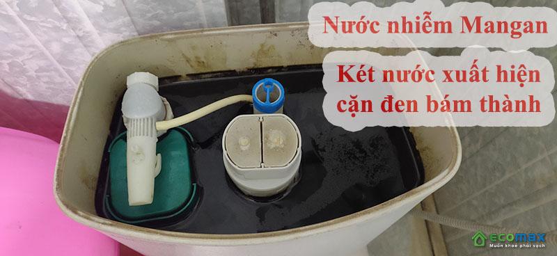 Cách nhận biết nguồn nước sinh hoạt nhiễm mangan cặn đen